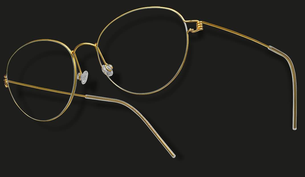 Lindberg air titanium rim - Brillengestell gold - Nah+Fern Optik Köln