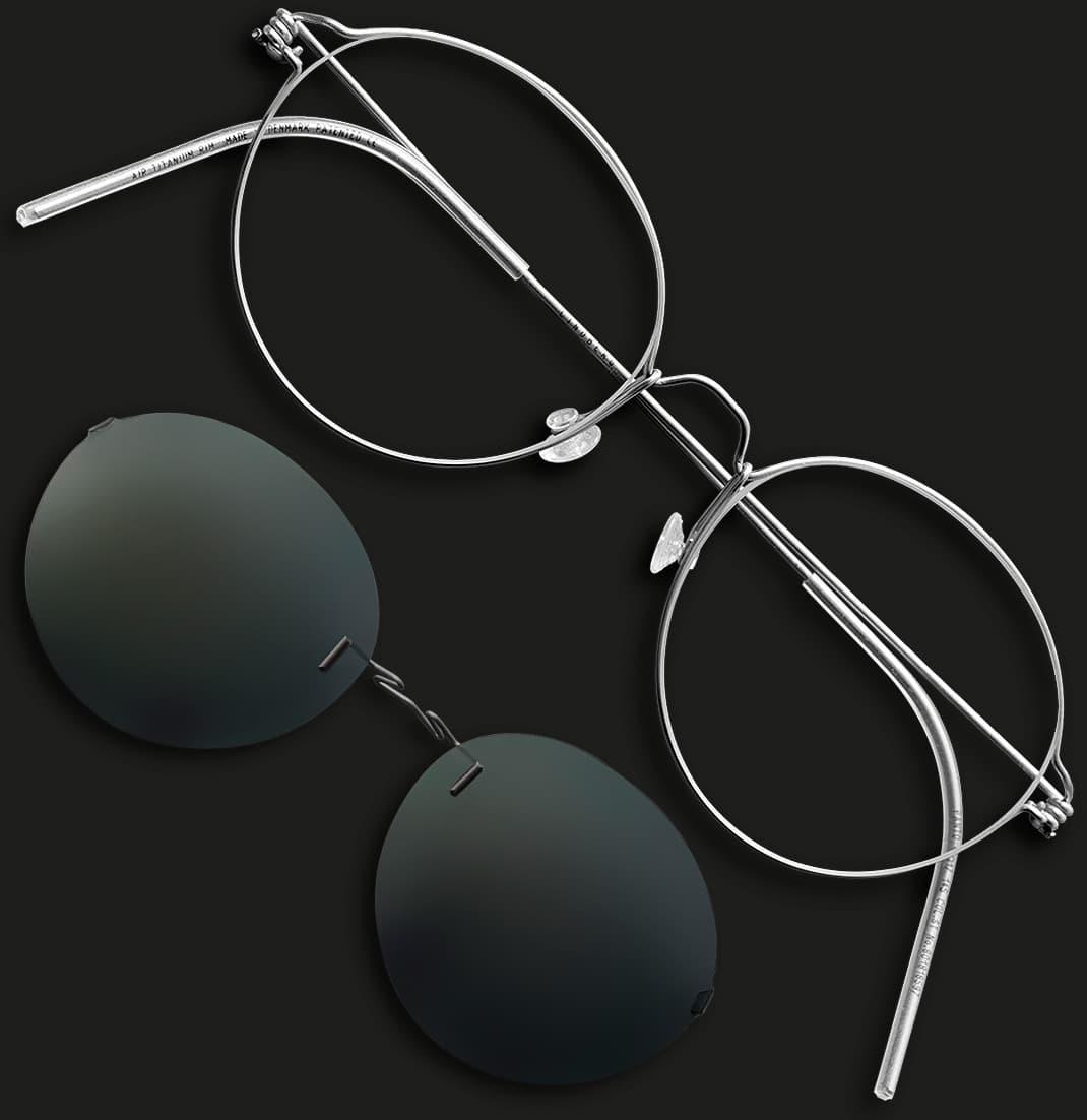 Lindberg air titanium rim - clip-ons - Nah+Fern Optik Köln