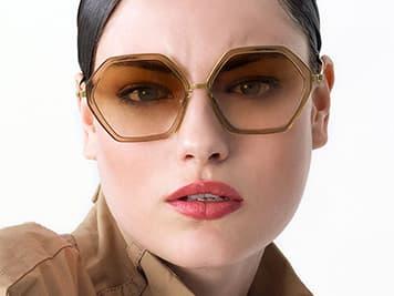 Lindberg Sonnenbrillen / Sun - Damen Sonnenbrille grün / transparent - Nah+Fern Optik Köln