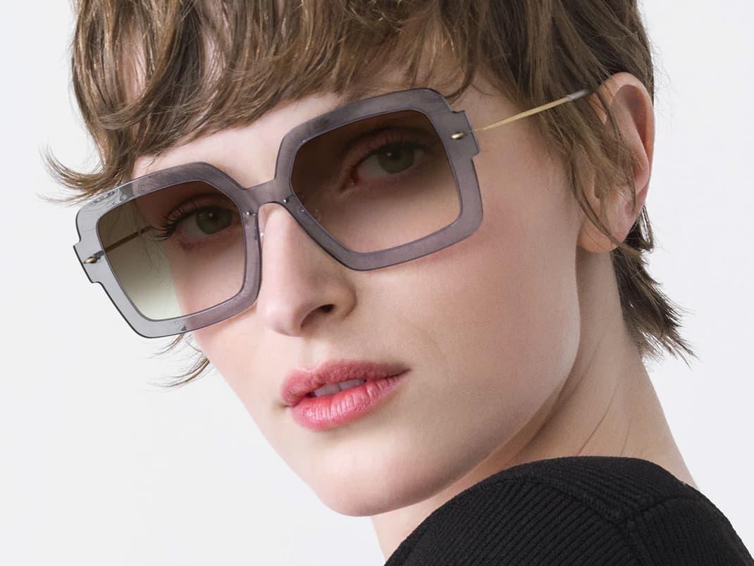Lindberg Sonnenbrillen / Sun - Damen Sonnenbrille braun / gemustert - Nah+Fern Optik Köln