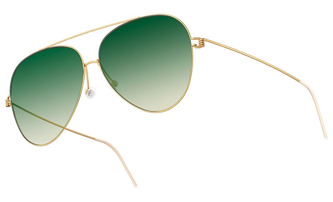 Lindberg Sonnenbrillen / Sun - Herren Sonnenbrille grün / titan - Nah+Fern Optik Köln